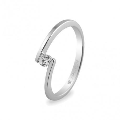 Eljegyzési gyűrű 0.10 ct gyémánttal 14k 74B0013