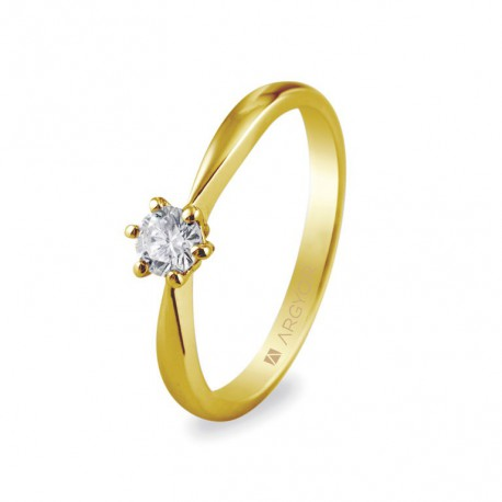 Eljegyzési gyűrű 0.25 ct gyémánttal 14k 74A0016