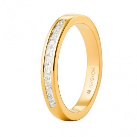 Eljegyzési gyűrű gyémánttal 14k 74A0052