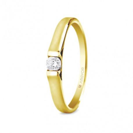 Eljegyzési gyűrű 0.10 ct gyémánttal 74A0032
