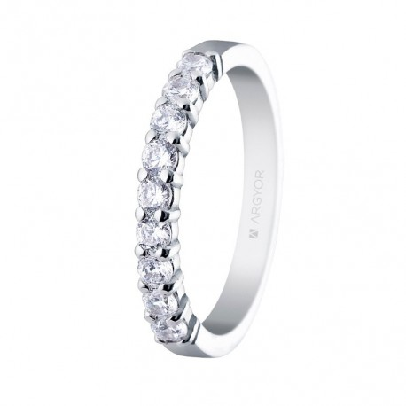 Eljegyzési gyűrű 14k aranyból 0,54 karát gyémánttal 74B0058