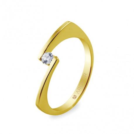 Eljegyzési gyűrű 0.10 ct gyémánttal 14k 74A0014