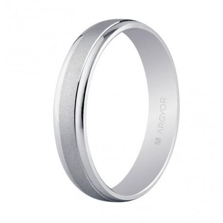 Karikagyűrű 14k fehéraranyból 5B40044
