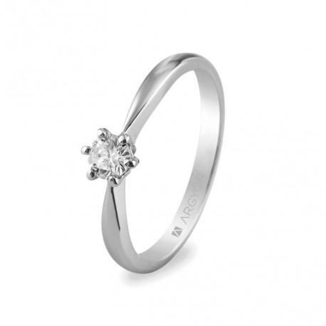 Eljegyzési gyűrű 0.25 ct gyémánttal 14k 74B0016