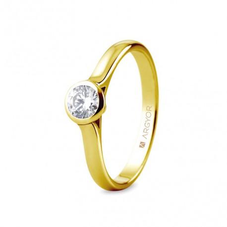Eljegyzési gyűrű 0.34 ct gyémánttal 74A0043