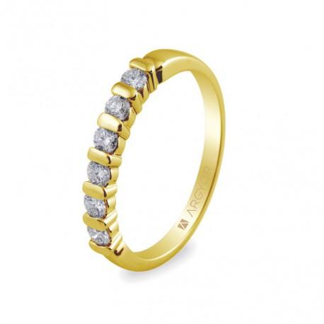Eljegyzési gyűrű 0.39 ct gyémánttal 74A00021