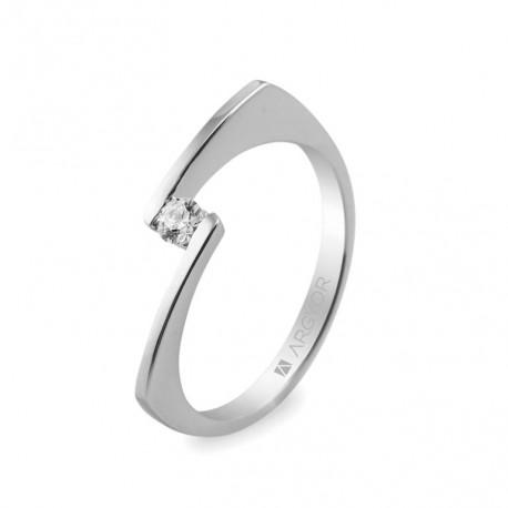 Eljegyzési gyűrű 0.10 ct gyémánttal 14k 74B0014
