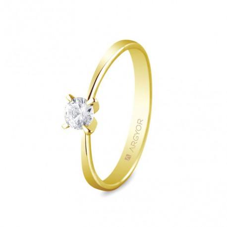 Eljegyzési gyűrű 0.25 ct gyémánttal 74A0030