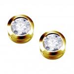 Fülbevalók 14k aranyból és chatón gyémántokkal 75A0001 | Argyor