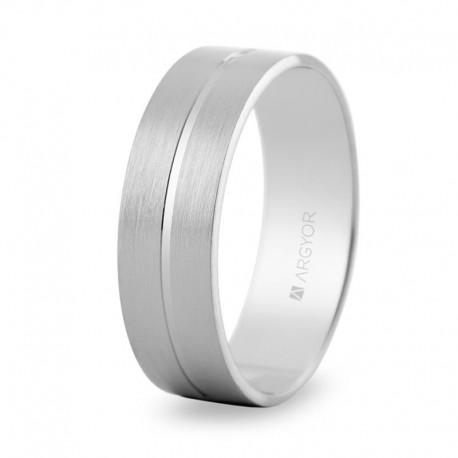 Karikagyűrű 14k fényes fehéraranyból 5B60494
