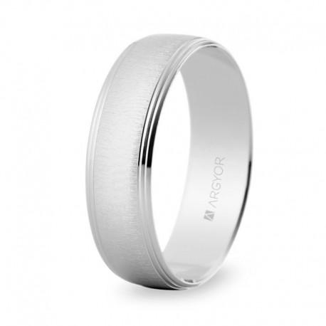 Karikagyűrű 14k fényes fehéraranyból 5B60466 Argyor