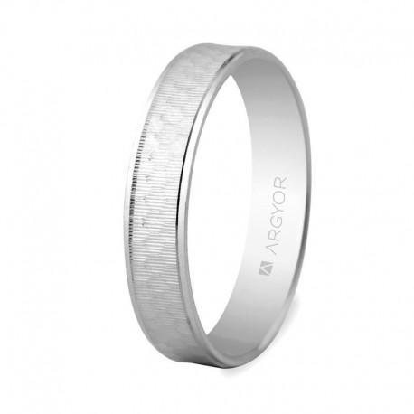 Karikagyűrű 14k csiszot fehéraranyból 5B40303