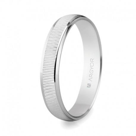 Karikagyűrű 14k textúrázott fehéraranyból 5B30430