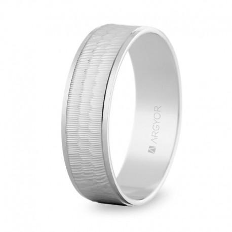 Karikagyűrű 14k fehéraranyból 6mm 5B60303