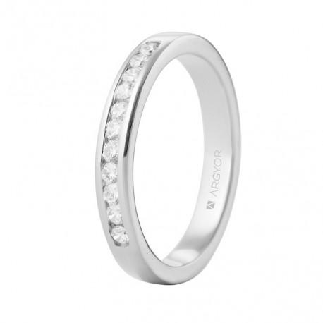 Eljegyzési gyűrű 18k fehéraranyból 11 gyémánttal 0,27 karát 74B0050