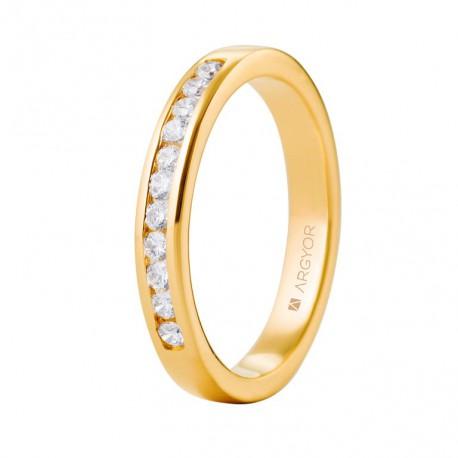 Eljegyzési gyűrű 18k sárga aranyból gyémánttal 74A0050
