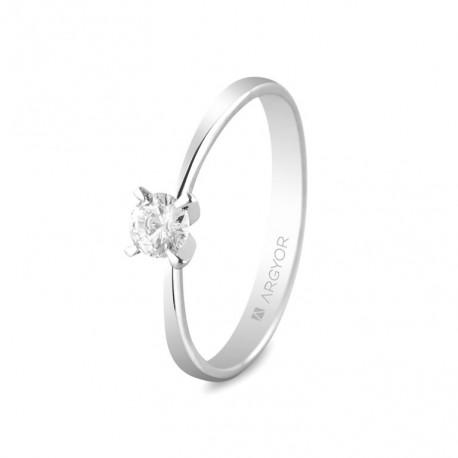 Eljegyzési gyűrű 18k fehéraranyból gyémánttal 0,25 karát 74B0030