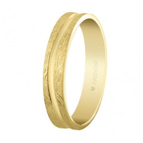 Karikagyűrű 18k aranyból 4mm 5140511