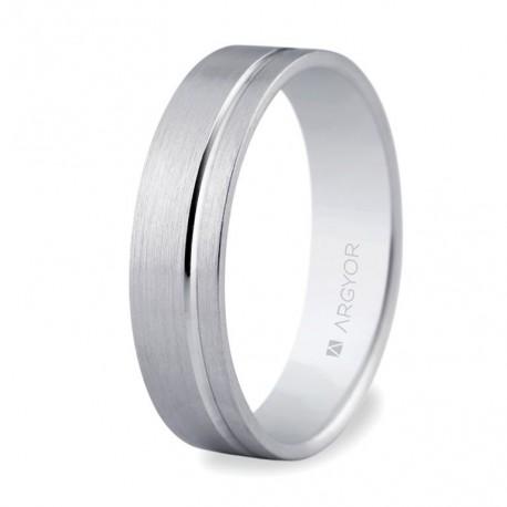 Karikagyűrű 18k fehéraranyból 5mm komfort 5B50316