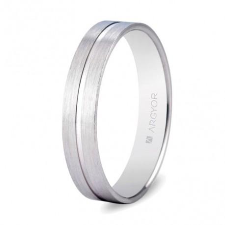Karikagyűrű 18k fényes fehéraranyból 5B40494