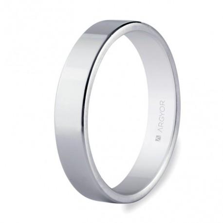 Karikagyűrű 18k fehéraranyból 4mm 5B40150