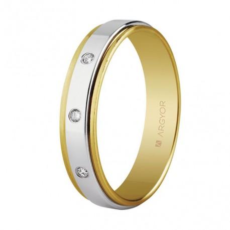 Karikagyűrű 18k aranyból gyémántokkal 5mm 55523158