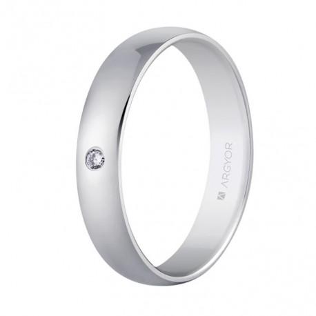 Karikagyűrű 18k fehéraranyból 554B1001