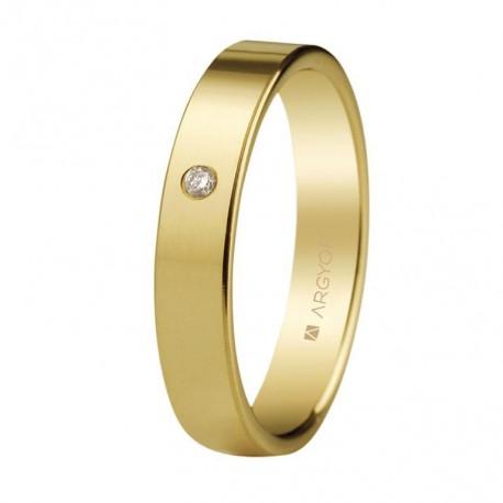 Karikagyűrű 18k aranyból gyémántokkal 4 mm 55401002
