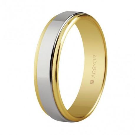 Karikagyűrű 18k kétszínű aranyból 5250158