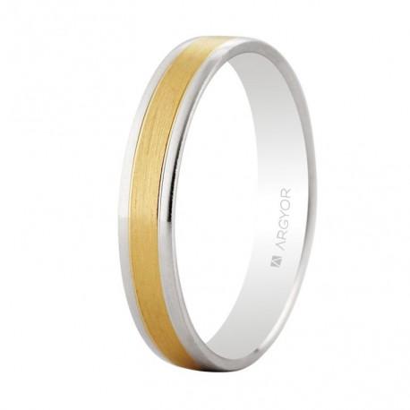 Karikagyűrű 18k kétszínű aranyból 3,6mm 5240497