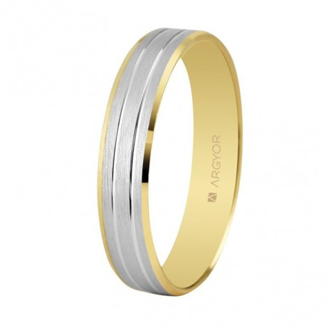 Karikagyűrű 18k kétszínű aranyból 4mm 5240436