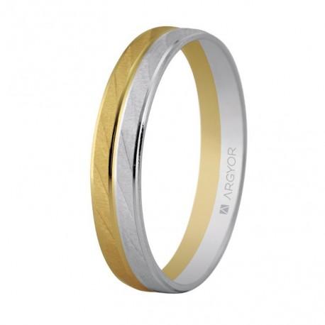 Karikagyűrű 18k kétszínű aranyból 5240426