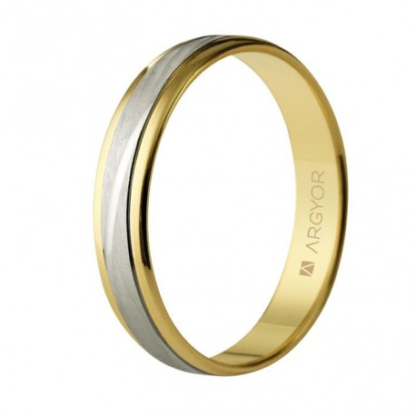 Karikagyűrű 18k kétszínű aranyból 4mm 5240329