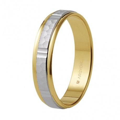 Karikagyűrű 18k kétszínű aranyból 5240311