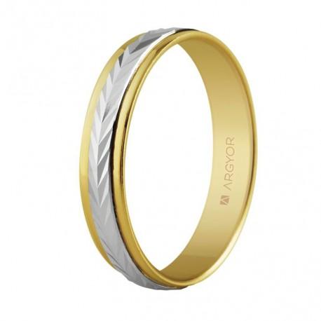 Karikagyűrű 18k kétszínű aranyból 5240283