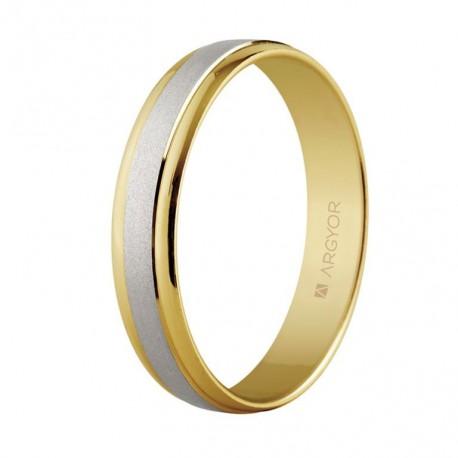 Karikagyűrű 18k kétszínű aranyból 4mm 5240044